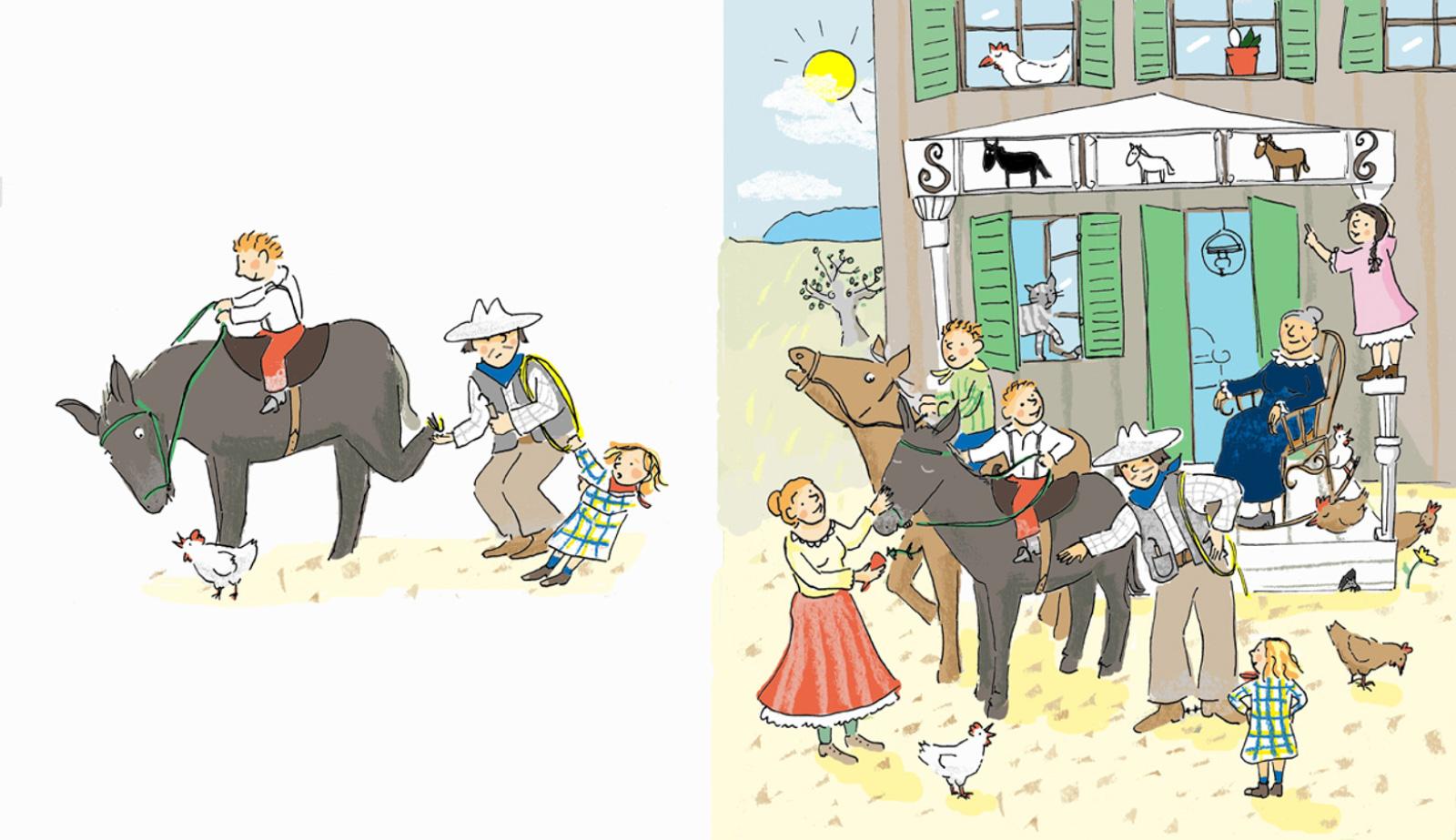 Gecko, Lizzy und das alte Pferd